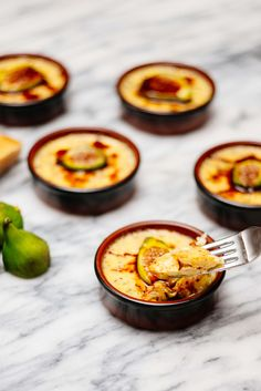 Parmesan Custards with Figs and Saba is a great summer recipe