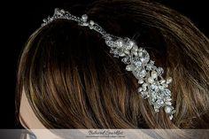 Swarovski Crystal Pearl Cluster Headband by BelovedSparkles