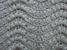 Wavy puff sprays crochet stitch; crochet pattern