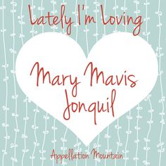 More #namesforgirls that lately I'm loving. Double first name, Mary Mavis, plus an unexpected botanical middle name - Jonquil!