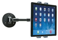 View your tablet or iPad screen while you work in the kitchen or office with this Wall-Mount iPad Holder. Booth Design, Wall Design, Tablet Wall Mount, Ipad Mount, Computer Armoire, Tablet Holder, Ipad Holders, Ipad Tablet, Ipad Pro