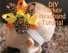 Such a cute Turkey Headband! Making one of these for Thanksgiving!