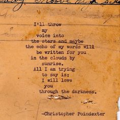 Their tears were their love poem 21... Absolutely in love with all of Christopher Poindexter's Poetry.