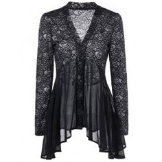 Button Up Floral Lace Blouse Style:Fashion Material:Nylon,Spandex Shirt Length:Long Sleeve Length:Full Collar:V-Neck Pattern Type:Floral Season:Summer Package x Blouse Floral Print Shirt, Floral Blouse, Floral Lace, Floral Tops, Floral Shirts, Lace Shirts, Trendy Dresses, Fashion Dresses, Lace Dresses