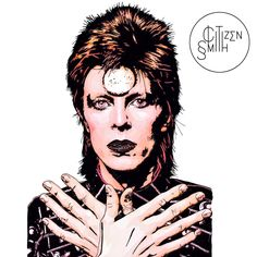 A real labour of love. Ziggy Stardust marks the first in a new series I'm drawing of music icons.