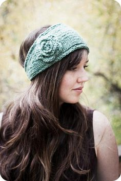 PATTERN Flower Headband Earwarmer (Knit