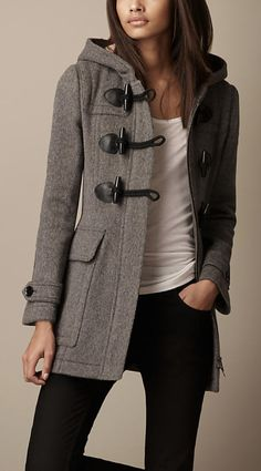 Burberry Fitted Duffle Coat http://us.burberry.com/fitted-duffle-coat-p38875101