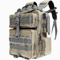 Maxpedition - Typhoon Backpack -- well made large cap backpack. Cube style offers maximum internal space.