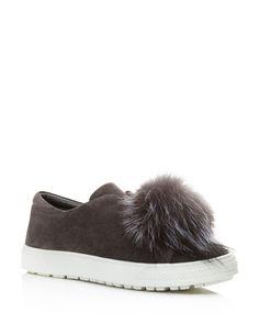 3039e02fb Tory Burch Phoebe Sandals. Delman Marli Suede and Marten Fur Pom Pom  Sneaker Pom Pom Sneakers