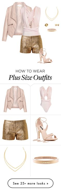 """Untitled #4004"" by gone-girl on Polyvore featuring Zizzi, Lanvin, Lana, Eddie Borgo, Chanel and Bulgari"