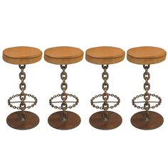 1stdibs - Set of Four Mid-Century Chain Link Bar Stools explore items from 1,700  global dealers at 1stdibs.com