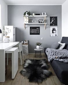 Here I have got 37 home office ideas you can use to create a space you'll enjoy being while you work. home office decor ideas 37 Cozy Home Office Ideas for Girls That Will Make You Enjoy Work Time Study Room Decor, Room Ideas Bedroom, Girls Bedroom, Bedroom Decor, Teenage Bedrooms, Warm Bedroom, Tiny Bedrooms, Study Rooms, Bedroom Small