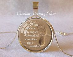 FOOTPRINTS in the SAND NECKLACE 925 Sterling by ThePendantGarden