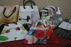 Gift Bags Made from Magazines Tutorial