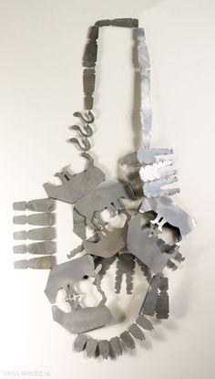 Anne Achenbach - necklace Kuh (Cow) 2011, zinc coated steel  – Germany, Dusseldorf, Fachhochschule
