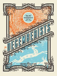 Decemberists Poster by Aesthetic Apparatus