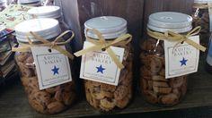 Clever Packaging, Cookie Packaging, Rustic Bakery, Cookie Jars, Twists, Connect, Stuffed Mushrooms, Shelf, Cookies