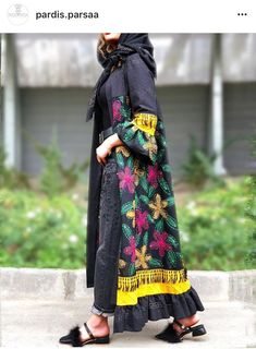 Iranian Women Fashion, Arab Fashion, Muslim Fashion, Modest Fashion, Unique Fashion, Fashion Dresses, Mode Abaya, Mode Hijab, Modest Dresses