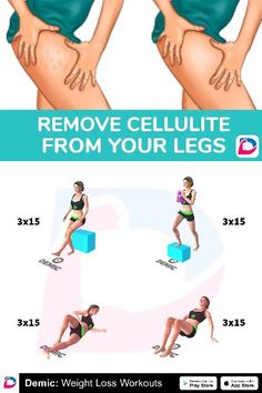 How To Remove Cellulite From Your Legs - Fitnessübungen - Beauty What Is Cellulite, Causes Of Cellulite, Cellulite Exercises, Cellulite Remedies, Reduce Cellulite, Anti Cellulite, Cellulite Wrap, Easy Workouts, At Home Workouts
