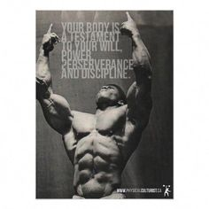 Healthy Fit Your Body Is A Testament - Bodybuilding Poster Posters - Shop Workout Fitness Gym Motivational Poster created by physicalculture. Personalize it with photos Training Fitness, Fitness Tips, Workout Fitness, Health Fitness, Easy Fitness, Men Health, Fitness Plan, Fitness Exercises, Health Club