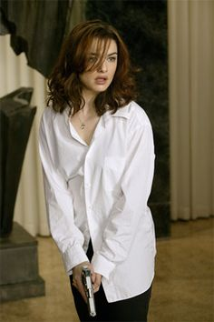 Constantine's partnered up with Rachel Weisz who ends up trying to aid his efforts