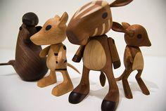 Wooden toys, by Josh Finkle.