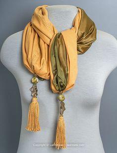 """Купить Шарф палантин """"Mustard"""", натуральные ткани - оранжевый, однотонный, палантин ручной работы, шарф"""