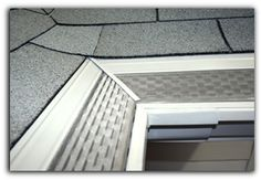 Micromesh Gutter Guard. Gutter Helmet rain gutter guards. Engineered to draw rainwater in, while preventing debris from entering.