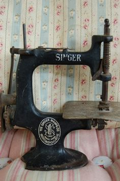 Vintage sewing machine. Gandhi called the sewing machine a wonderful device that reduced drudgery, if I recall correctly.