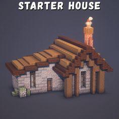 Casa Medieval Minecraft, Cute Minecraft Houses, Minecraft Tips, Minecraft Survival, Minecraft Blueprints, Minecraft Creations, How To Play Minecraft, Minecraft Designs, Minecraft Projects