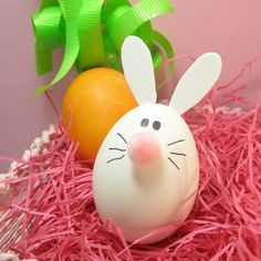 decoration œufs de Pâques lapin-DIY-nez-pompon