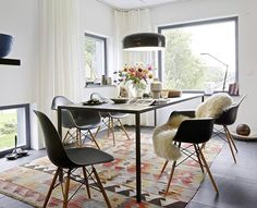 Decoration of Dining chairs Eames Eames Dining, Eames Chairs, Dining Area, Dining Chairs, Dining Table, Rattan Chairs, Metal Chairs, Lounge Chairs, Chair Cushions