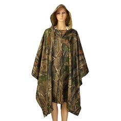 Rain Poncho LOPEZ Outdoor Multifunctional Military Emergency Rain Ponchocamouflage Raincoat Camping Tent Rain Cover Waterproof Mat with Carry Bag  Maple Leaf Camouflage >>> Check this awesome product by going to the link at the image.