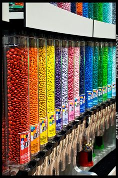 Candy store dispensers by herobyday, via Flickr