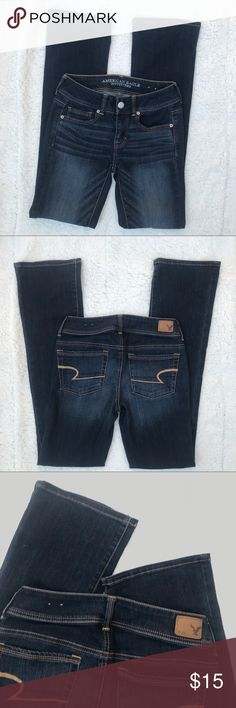 American eagle outfitters boot cut jeans Like new American Eagle outfitters kick boot cut jeans. Size 0 Regular. Thanks for looking. Discounts for bundles of two or more. American Eagle Outfitters Jeans Boot Cut