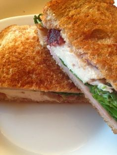 Rotisserie Chicken Queen: Grilled Chicken with Ham, Arugula and Cranberry Sa...