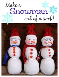 We had a blast the other night making Snowmen out of the kids' socks. Look how cute they turned out! {This post contains affiliate links, read ourDisclosure Policyfor more information.} We started out by reading Snowmen at Night by Carolyn Buehner. Supplies you will need: white sock (we used a large sized child's sock) felt …