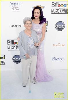 Katy Perry  and her Grandma Ann Billboard Awards 2012