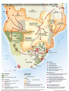 Apartheid in South Africa map