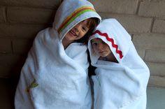 Hooded bath towels
