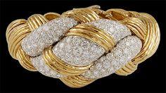 DAVID WEBB Diamond Knot Bracelet, 1970's