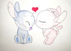 drawing ideas baymax drawing, stitch - stitch and angel drawing Best Friend Drawings, Love Drawings, Easy Drawings, Cute Stitch, Lilo And Stitch, Disney Kunst, Disney Art, Stitch Et Angel, Baymax Drawing