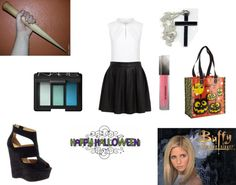 """Halloween Costume #17: Buffy-Buffy the Vampire Slayer"" by izc99 ❤ liked on Polyvore"