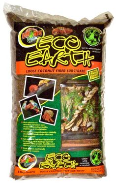 Zoo Med Eco Earth Loose Coconut Fiber Substrate - 8 Quarts is an eco friendly product made from the husks of coconuts and can be safely composted or recycled into potted plants or gardens. Ideal for naturalistic terrarium type set ups incorporatio Reptile Supplies, Pet Supplies, Bearded Dragon Substrate, Freshwater Plants, Tortoise Care, Tortoise Food, Tortoise Habitat, Reptile Terrarium, Terrariums