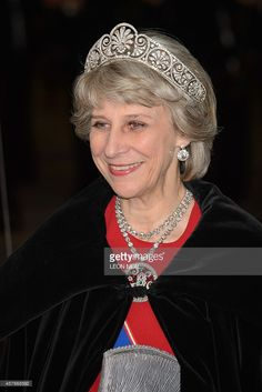 Britain's Birgitte, Duchess of Gloucester, arrives for a banquet in honour of Singapore's President Tony Tan Keng Yam at the Guildhall in central London on October 22, 2014 on the second full day of the Singapore president's state visit to Britain.
