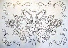ARTEMELZA - Arte e Artesanato: Riscos para pintura bauernmalerei | Sketches for…