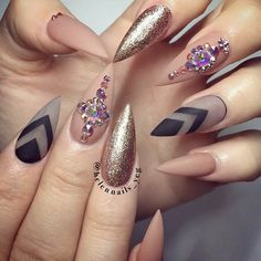 Examples of Beautiful Long Nails to Inspire You ❤️ Glamorous Stilettos picture 3 ❤️ These days long nails are not anything special, and everyone can try wearing them out. What is more, there are trends to follow, and we happen to know all about the freshest ideas when it comes to your nails. https://naildesignsjournal.com/long-nails-ideas/  #nails #nailart #naildesign  #longnails
