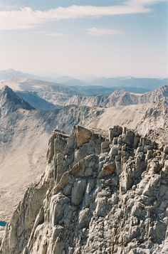 Looking south from Mt. Whitney.  Michael Radford Photography