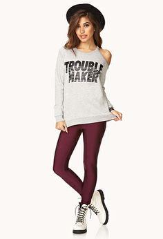 Trouble Maker Sweatshirt   FOREVER 21 - 2000111878