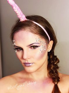 #halloween #unicorn #costume #Elynnmakeup #cute #makeup